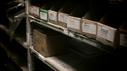 Warehouse Stock Shelving stock footage