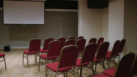 Empty Conference Hall stock footage