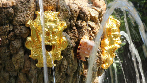 Fountain Detail In Renovated Summer Garden St. Pet stock footage