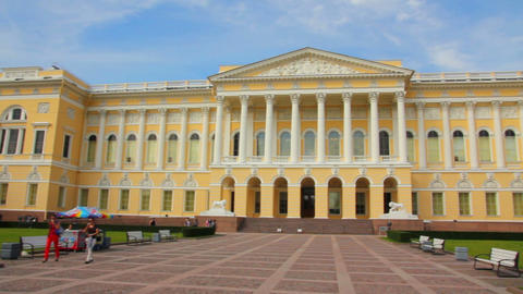 Russian Museum In St. Petersburg Russia stock footage