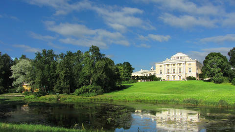 palace in Pavlovsk park St. Petersburg Russia - ti Footage