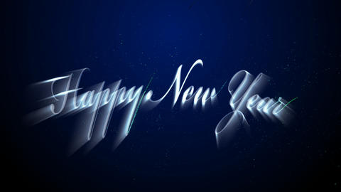 Happy New Year stock footage