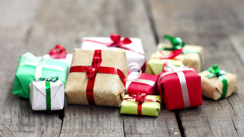 Wrapped Presents stock footage
