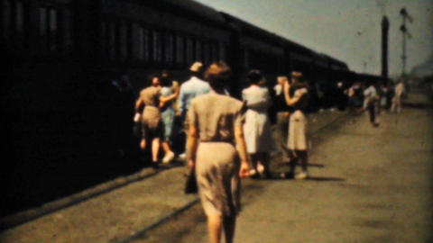 People Taking A Cross Country Train Trip 1940 Film ビデオ