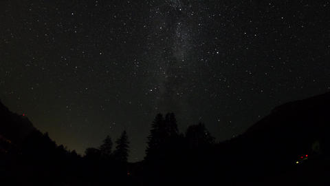 Time Lapse Night Sky With Milky Way stock footage
