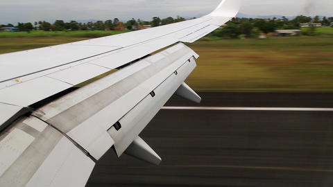 Plane Touching Down stock footage