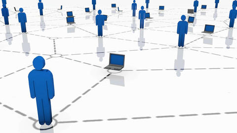 Human / Laptop Network stock footage