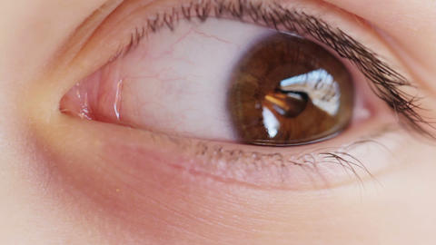 Eyes Macro Shot stock footage
