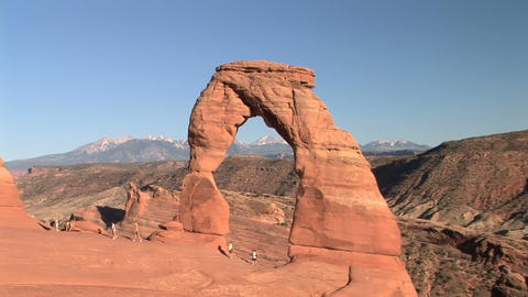 Arches National Park, Delicate Arch stock footage