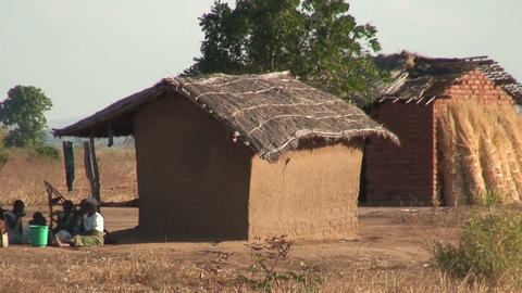 African Village (6) stock footage
