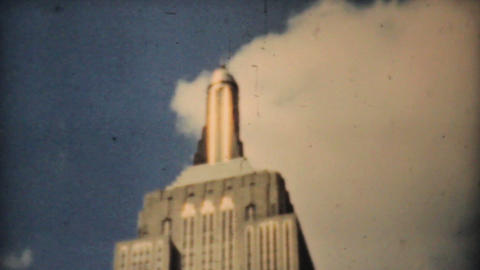 Empire State Building Downtown New York City 1940 Footage