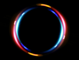 4 K double ring blue red Animation