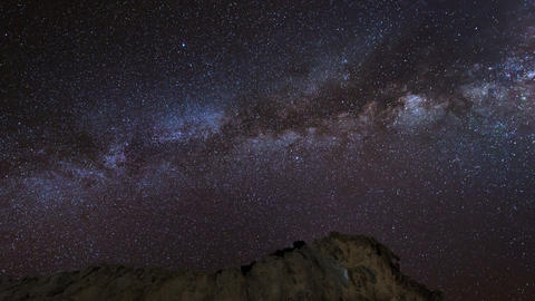 4k UHD Stars And Milky Way Over Sandstones 11225 stock footage