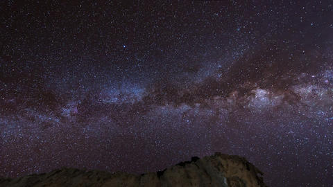 Stars And Milky Way Over Sandstones Pan 11226 stock footage