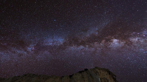 4k UHD Stars And Milky Way Over Sandstones Pan 112 stock footage