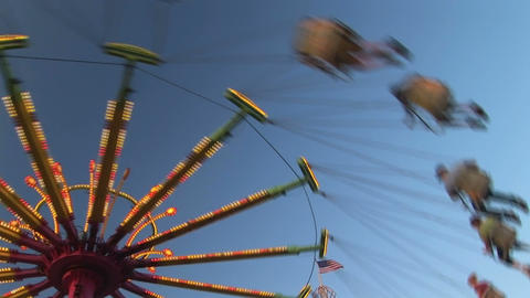 Amusement Park Ride stock footage