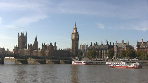 London Westminster And Big Ben stock footage