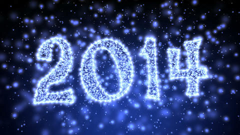 Sparkling New Year 2014 Title Animation