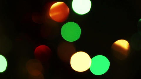decorated christmas tree with flashing garlands -  Footage