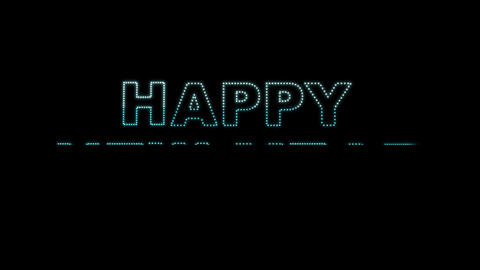 Happy New Year LEDS 02 stock footage