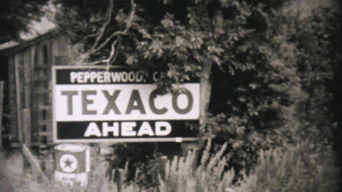 Car Getting Serviced At Texico Station 1940 Vintag Footage