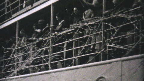 Cruise Ship Leaves Vancouver To Alaska 1940 stock footage
