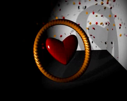 Heart Ring stock footage