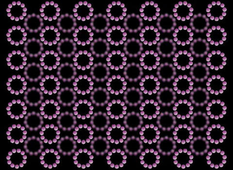 Purple Rotating Balls stock footage