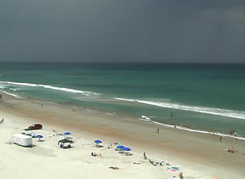 Storm Approaching a Beach Footage