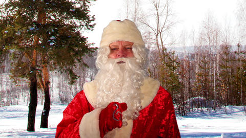 Close-up Of Santa Claus With Christmas Wishes stock footage