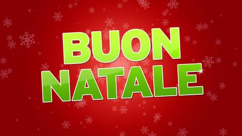 Merry Christmas (In Italian) stock footage