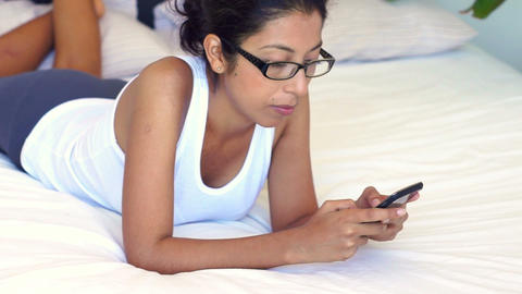 Woman Using A Mobile Phone stock footage