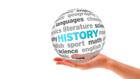 History word Sphere Animation