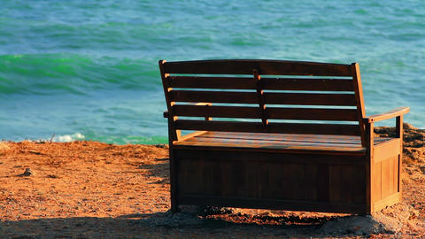 Place Of Rest By The Sea stock footage