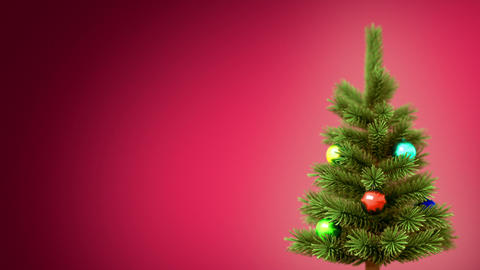 Christmas Tree Background stock footage