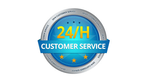 24 Hours Customer Service Sign stock footage