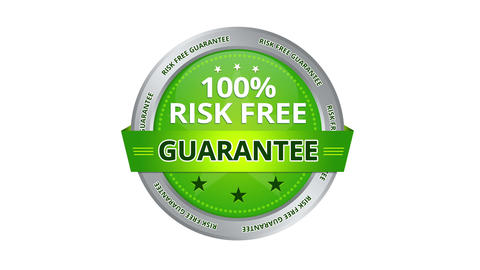 Risk Free Guarantee stock footage
