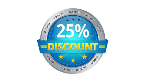 25 Percent Discount stock footage