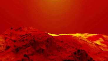 Red liquid ocean sea water lava magma,red mountain orogeny & volcanic activi Animation