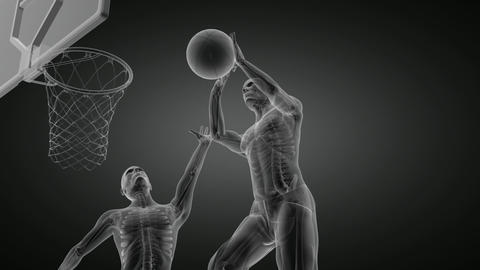 Basketball Game Player Made In 3D stock footage