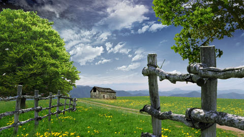 Countryside Landscape stock footage