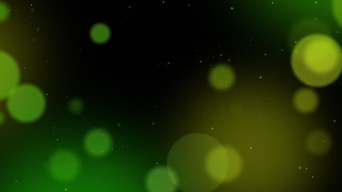 Defocused Particles Background. Green And Yellow stock footage