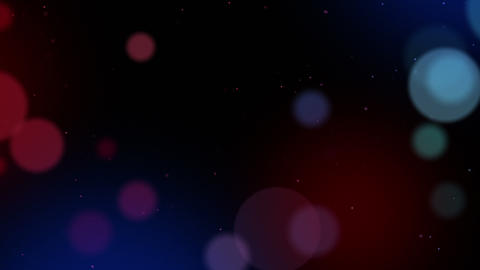 Defocused particles background. Red and blue Animation