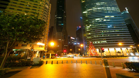 4k (4096x2304) Timelapse In Motion, Singapore At N stock footage