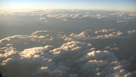 Beautiful View From Above The Sunny Clouds (High Definition) stock footage