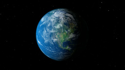 Earth planet gyrating Animation
