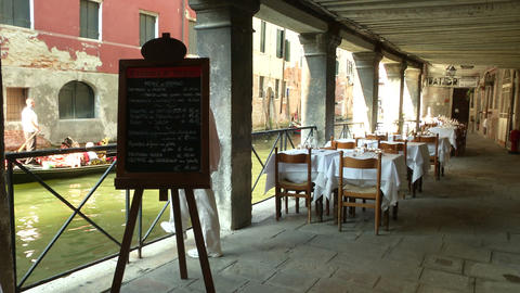 Venice Restaurant stock footage