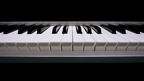 Piano Keyboard stock footage