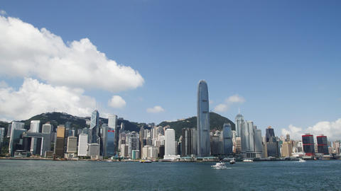 HongKong Skyline And Victoria Habour stock footage