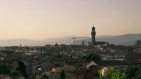 View and zoom of Florence, Italy Footage